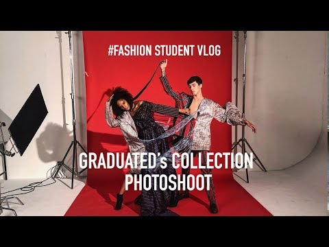 Graduated collection's Photoshoot - Fashion Design Student #VLOG