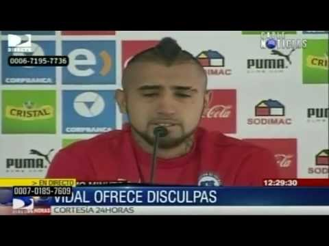 Arturo Vidal pide perdón por accidente y rompe en llanto
