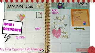 How I Decorate My Erin Condren Life Planner