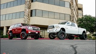 The perfect lifted couple! Couple builds RAM and Tahoe together! (Burn outs included!)