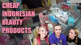 Trying Cheap Indonesian Makeup ft. My Brother and Sister!