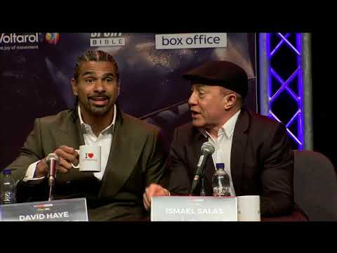 'Tony Bellew Shut Up' Ismael Salas goes in and David Haye loves it