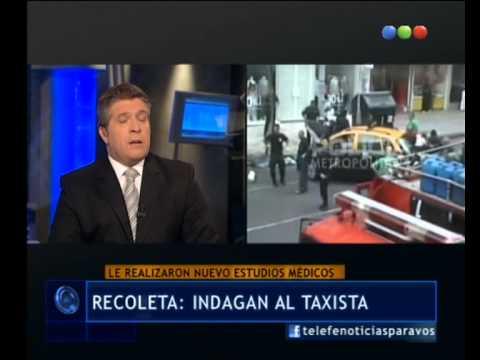 Declaró el taxista que mató a una joven en Recoleta - Telefe Noticias