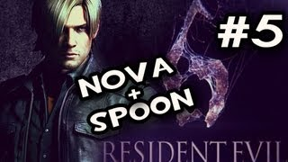 Resident Evil 6_ Leons Campaign w/Nova & Sp00n Co-op Ep.5: CAR WINS
