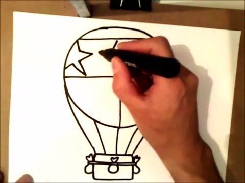 Видео как нарисовать воздушный шар