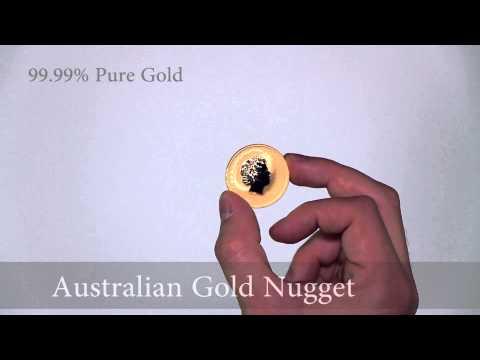 Gold Australian Kangaroo