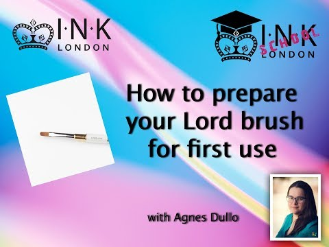 How to prepare your INK London Lord gel brush