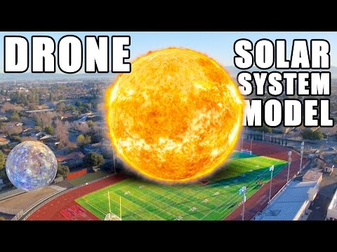 DRONE Solar System Model- How far is Planet 9?