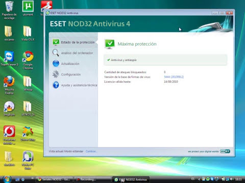 descargar NOD32 Antivirus gratis con claves