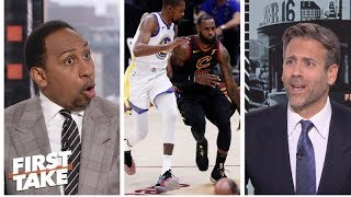 Stephen A., Max get heated on LeBron James vs. Kevin Durant | First Take | ESPN