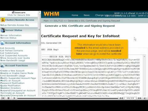 0 Generating and Installing SSL certificates in WHM by VodaHost web hosting