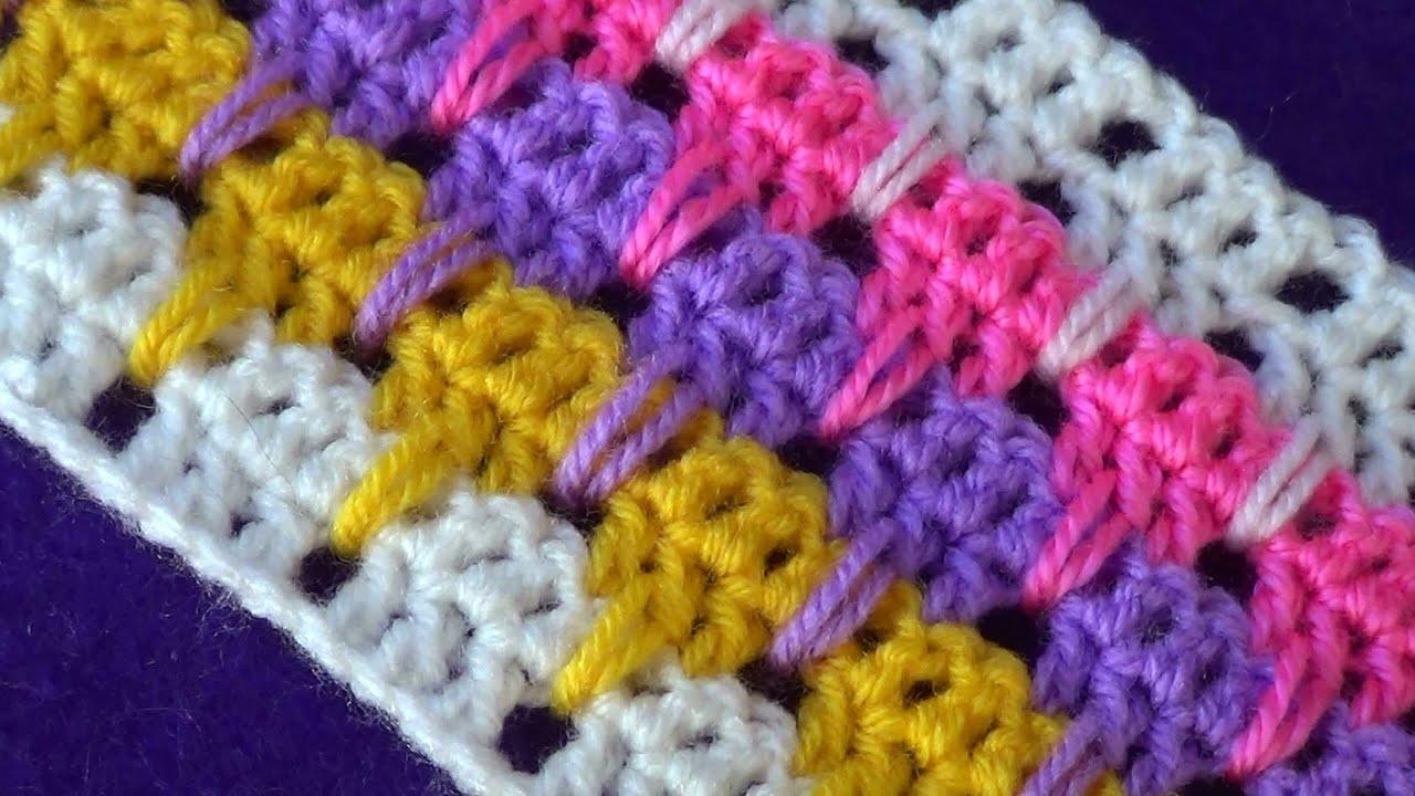 Изумительные многоцветные узоры для вязания 68