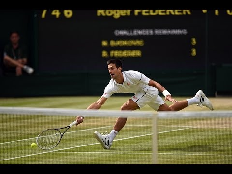 HSBC Play Of The Day: Novak Djokovic incredible point - Wimbledon 2014