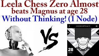 Leela Chess Zero Almost Crushed Play Magnus age 28 WITHOUT THINKING.