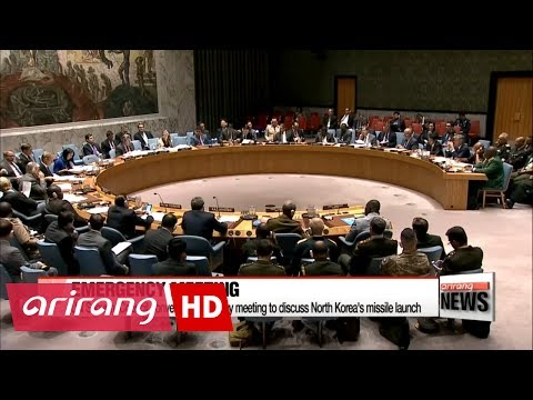 UN Security Council discusses North Korea's latest missile test at emergency meeting