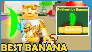 Buying The Max Power Radioactive Banana In Roblox Banana Simulator