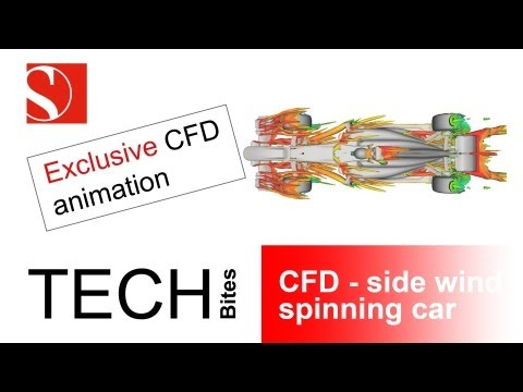 Tech Bites: CFD - side wind, spinning car - Sauber F1 Team Video Download