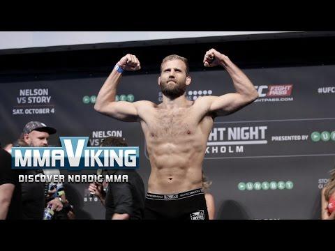 UFC Sweden 3 Weigh Ins Tor Troeng vs. Krzysztof Jotko