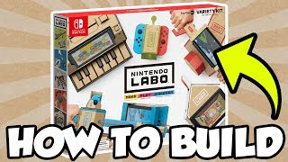 How To Build Nintendo Labo: Toy-Con 01 Variety Kit! [🔴LIVE] 387.77 MB