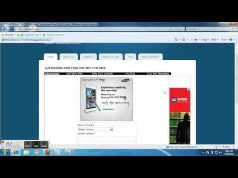 How to Send  Free Online SMS from PC to Mobile | Free International SMS