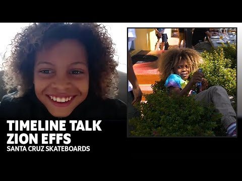 Zion Effs Challenges Maurio McCoy To Kickflip Duel! Timeline Talk | Santa Cruz Skateboards Minions