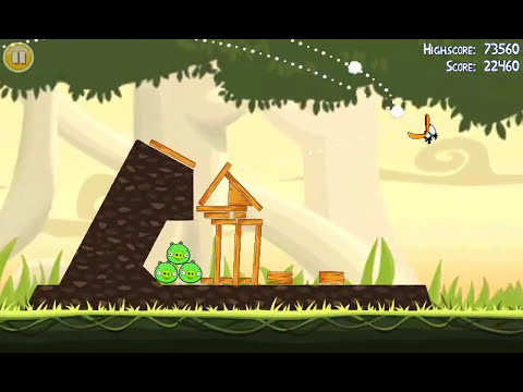 Official Angry Birds walkthrough for theme 6 levels 1-5