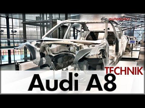 Audi A8 2018 Tech day - Die Technik hinter dem Leichtbau des neuen Audi A8 (D5) | Auto | Deutsch