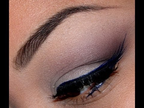 Simple Eyeshadow with Feathered Blue Liner Tutorial!!!!