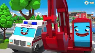 Bagger und Traktor - Lernen und bauen - Autos für Kinder - Bagger Kinderfilm deutsch!