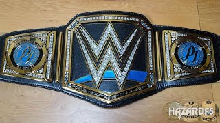 NEW BLUE SMACKDOWN WWE WORLD CHAMPIONSHIP MODIFIED REPLICA TITLE BELT REVIEW!