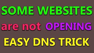 How to Open Blocked Websites by Changing DNS Setting