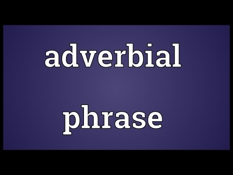 Header of adverbial phrase