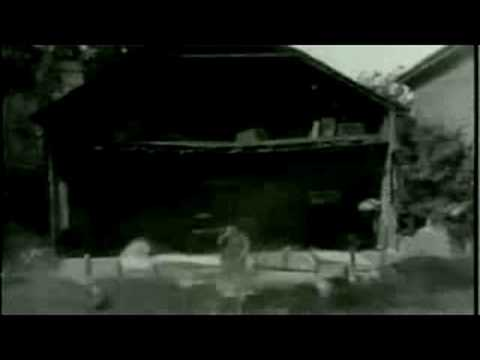 Buster Keaton - Steamboat Bill Jr stunt, After a tornado hits a building falls down If you look you can see it scrapes his arm and if he would have moved 2 m...