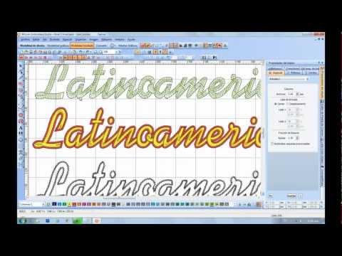 Wilcom Tutorial, Tecnicas Avanzadas para Crear Bordes a letras