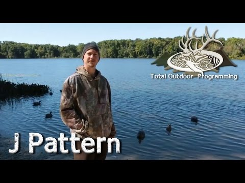 How to set up a basic waterfowl Duck hunting decoy spread setup