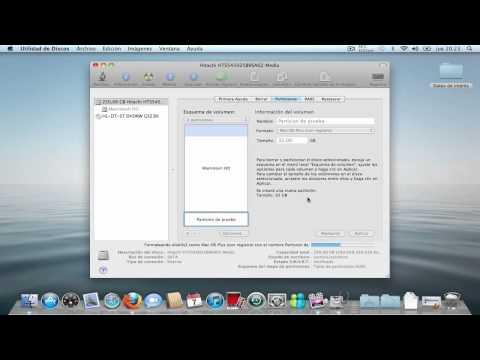 Crear y eliminar particiones en Mac OS X