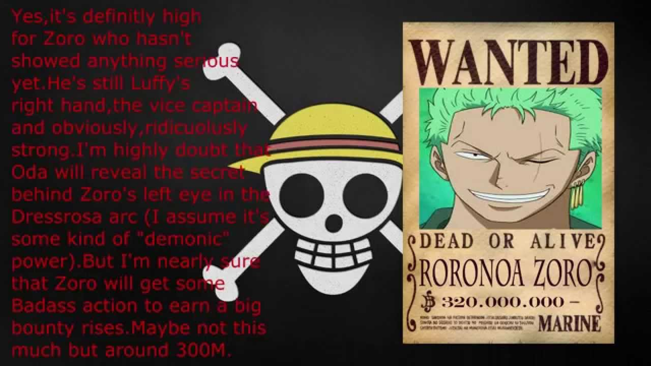 Zoro Bounty After Time Skip One Piece bounty prediction