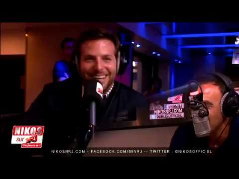 Bradley Cooper speak french on french radio. He's so cute !