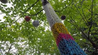 Yarn Bombing at The Green Man Festival 2015