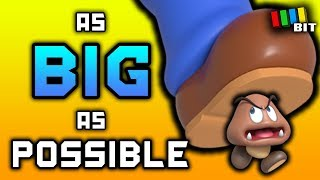 Is it Possible to Beat Super Mario 64 as GIANT Mario? (Mega Mario Challenge) [TetraBitGaming]