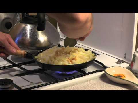 Как пожарить картошку - видео
