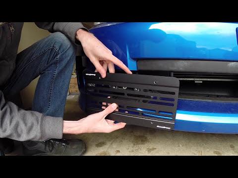 Subaru WRX STI - Front License Plate Relocation Kit