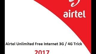 Airtel Unlimited Free Internet Trick