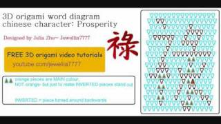 3d Origami Word Diagram- Chinese Character: Prosperity