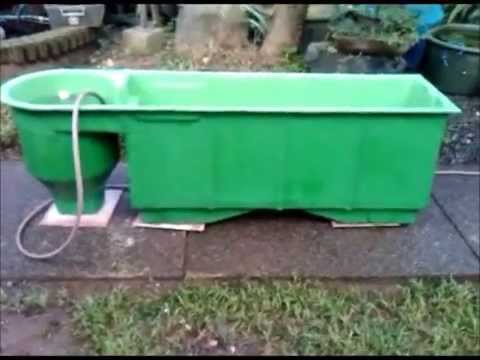 Made filter module aquaponics philippines vortex test for Aquaponics filter