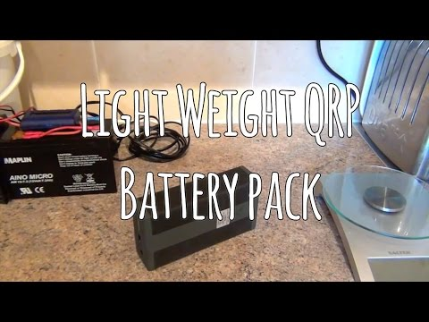 Light Weight QRP battery pack