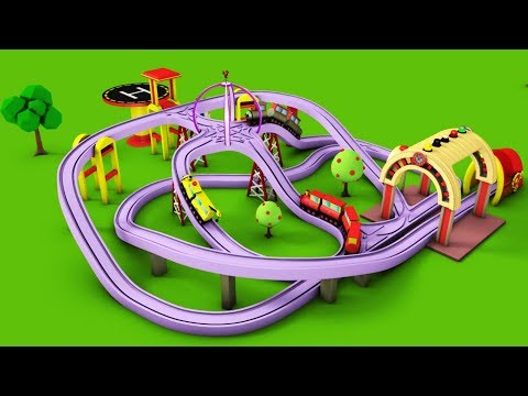 Train for kids - Kids Railway - Toy Videos - Choo Train Cartoon - Toy Factory Cartoon