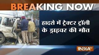 Punjab Polls: AAP's Jagraon Candidate Sarabjit Kaur Injured in Road Accident