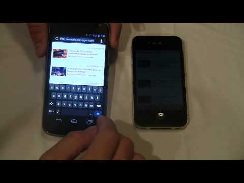 My amateur video comparison and hands on with the Galaxy Nexus (UK version) ...