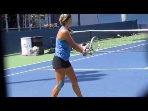 Victoria Azarenka's Practice at the 2014 US Open